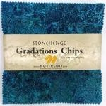 Northcott - Brights - Lagoon Stonehenge Gradations 5x5 Chips by Linda Ludovico
