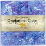 Northcott - Mystic Twilight Stonehenge Gradations 5x5 Chips by Linda Ludovico
