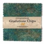 Northcott - Oxidized Copper Stonehenge Gradations 5x5 Chips by Linda Ludovico