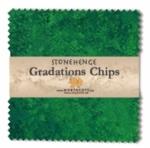 Northcott - Rainforest Stonehenge Gradations 5x5 Chips by Linda Ludovico