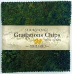Northcott - Robin's Egg Stonehenge Gradations 5x5 Chips by Linda Ludovico