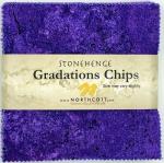 Northcott - Brights - Amethyst Stonehenge Gradations 5x5 Chips by Linda Ludovico