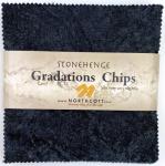 Northcott - Graphite Stonehenge Gradations 5x5 Chips by Linda Ludovico