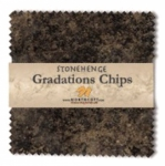 Northcott - Slate Stonehenge Gradations 5x5 Chips by Linda Ludovico