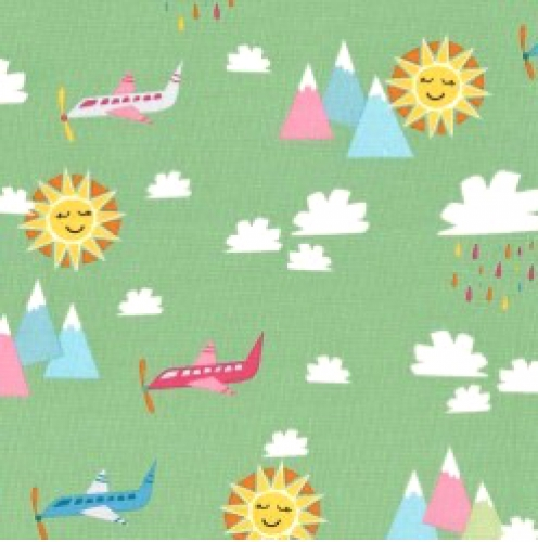 MICHAEL MILLER - Travel Daze - Seafoam - Airplanes