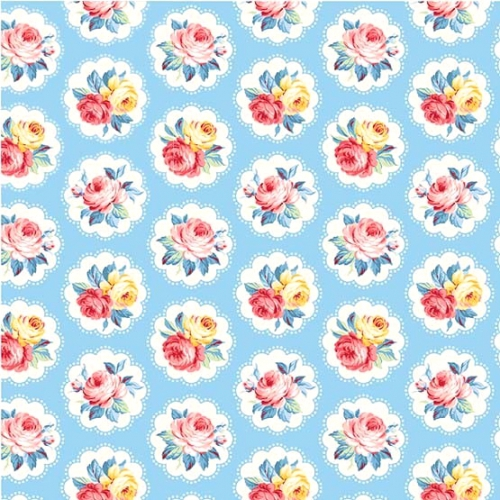 MICHAEL MILLER - Country Cottage Florals - Sunlit Days - Blue