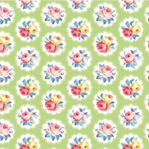MICHAEL MILLER - Country Cottage Florals - Sunlit Days - Mint