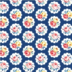 MICHAEL MILLER - Country Cottage Florals - Sunlit Days - Navy