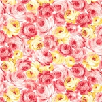 MICHAEL MILLER - Country Cottage Florals - Garden Roses - Peach