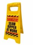 Desktop Warning Sign - Danger! Seam Ripper at Work