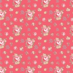 POPPIE COTTON - Dots and Posies - Primroses - Pink