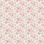 POPPIE COTTON - Dots and Posies - Mini Fleurs - White