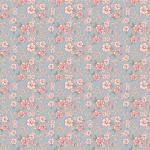 POPPIE COTTON - Dots and Posies - Mini Fleurs - Blue