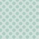 POPPIE COTTON - Dots and Posies - Dots on Dots - Teal