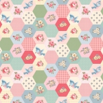 POPPIE COTTON - Dots and Posies - Birds and Hexies