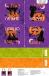 NORTHCOTT - Festive Felines by Veronique Charron - Bag Panel - Purple - PL621