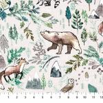 FIGO FABRICS - Forest Fable by Esther Fallon Lau - Digital - Taupe Multi