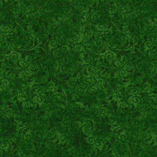 TIMELESS TREASURES - Echo - Tonal Filigree - Emerald