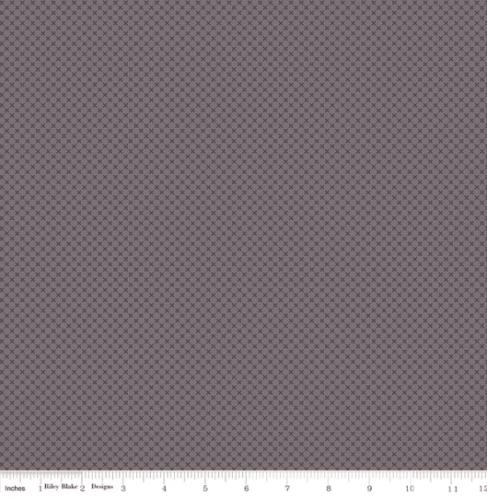 RILEY BLAKE - Kisses Flannel In Color - Steel