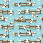 MODA FABRICS - Harmony Farm - Sheep Blue - FLANNEL