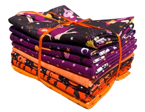 Fab-Boo-Lous Fat Quarter - 8 per pack