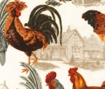 TIMELESS TREASURES - Rise and Shine -Roosters - Foam