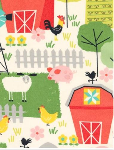 TIMELESS TREASURES - Farm - On The Farm - Cream