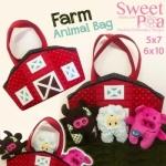 Farm Animal Bag Machine Embroidery Design CD by Sweet Pea