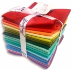 Free Spirit - Designer Essentials - Rainbow Solids Fat Quarter Bundle 20 pcs