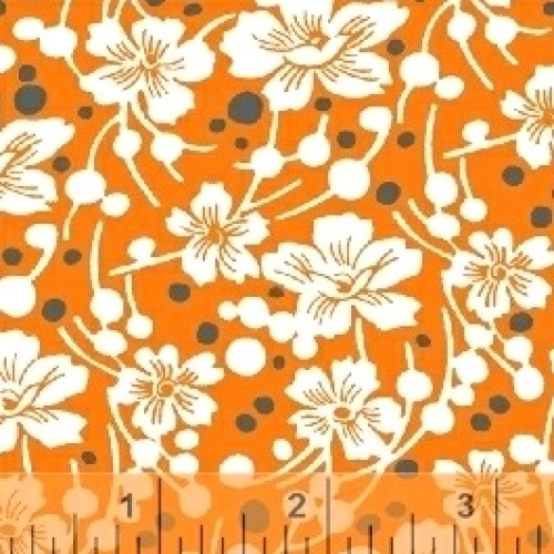 BAUM TEXTILES - Mimosa - Flowers and Pebbles - 39982-5