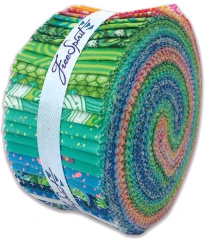 Tula Pink - Zuma 2.5 inch Design Roll 40 pcs  Free Spirit