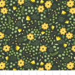 CAMELOT FABRIC - Bright Side - Blossoms in Dark Pine Green - 2240903-3