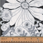 FABRI-QUILT, INC - Accent on Color Floral B/W - 11230951