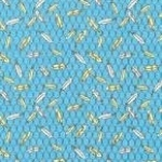 FABRI-QUILT, INC - Eggcellent Adventure Feathers - Blue - 11228823