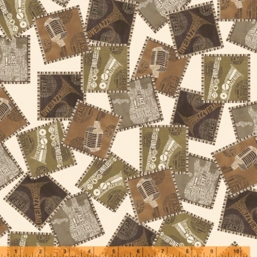 WINDHAM FABRICS - Type Band - 41963-X