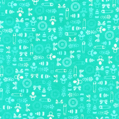 FABRI-QUILT, INC - BabyTalk - Turquoise