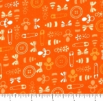 FABRI-QUILT, INC - Baby Talk - Orange