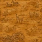 FABRI-QUILT, INC - Jungle Party - Tonal Scenic Brn - 112-29561