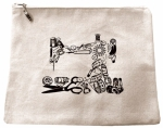 Tool Sew Machine Zip Bag 9x11 by Fanatical Fusion