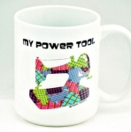 MUG - My Power Tool Coffee Mug 15 oz by Fabric Fanatics
