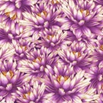 TIMELESS TREASURES - Packed Water Lillies - Metallic - Purple