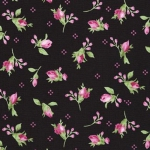 KAUFMAN - Pretty Sweet - Flowerhouse Black