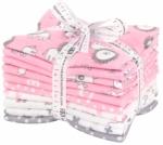 Kaufman - Penned Pals Baby Pink Fat Quarter Bundle 10 pcs