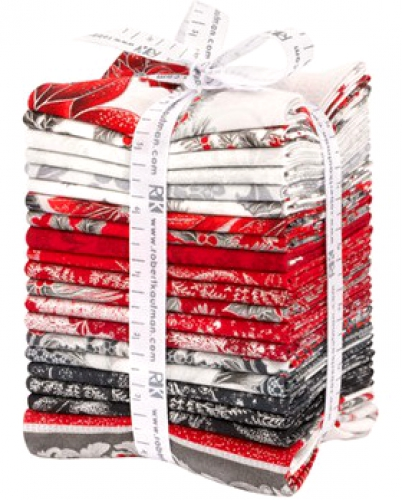 Kaufman - Holiday Flourish Scarlet Colorstory Fat Quarter Bundle 20 pcs