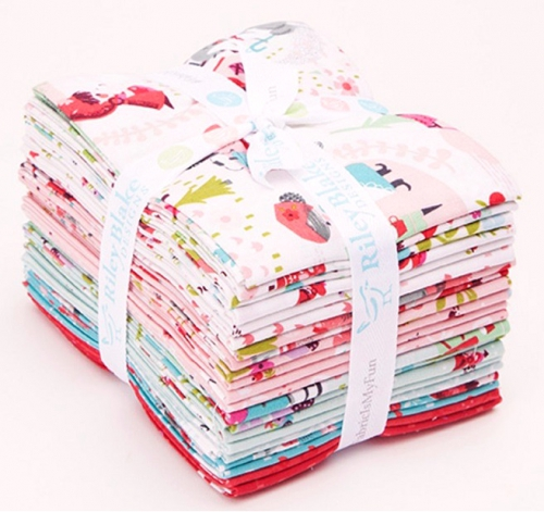 Riley Blake - Little Red in the Woods Fat Quarter Bundle 21 pcs