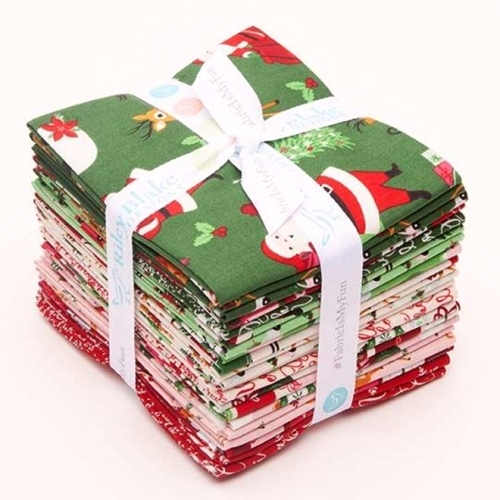 Riley Blake - Merry And Bright Fat Quarter Bundle 21pcs