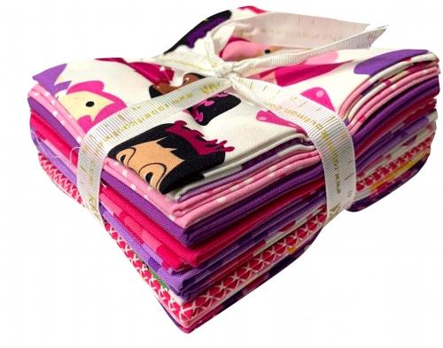 Kaufman - Princess Life Purple Colorstory Fat Quarter Bundle by Ann Kelle 10pcs