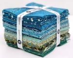 Andover - Secret Stash - Cool Tones Fat Quarter Bundle by Laundry Basket Quilts