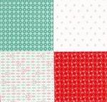 RILEY BLAKE - Cozy Christmas - Lori Holt - Red - PANEL