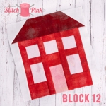 Free Stitch Pink Sampler Block 12 - House on the Hill